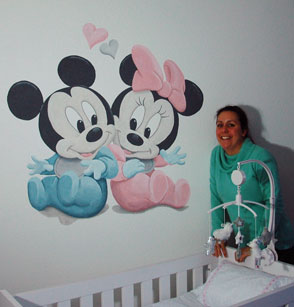 Baby Disney Minnie en Mickey