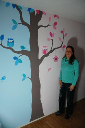 Referenties bim muurschildering schilderijen klant ervaringen - Schilderij voor meisje slaapkamer ...
