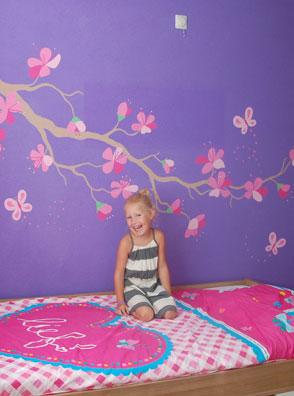 Muurstickers babykamer boom for - Schilderij slaapkamer meisje ...