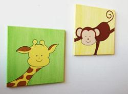 babykamer schilderijen, kinderkamer schilderijtjes en muurdecoratie, Deco ideeën