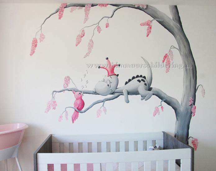 Verwonderlijk Dirk Draak babykamer wanddecoratie, lief draakje op wolk ZG-28