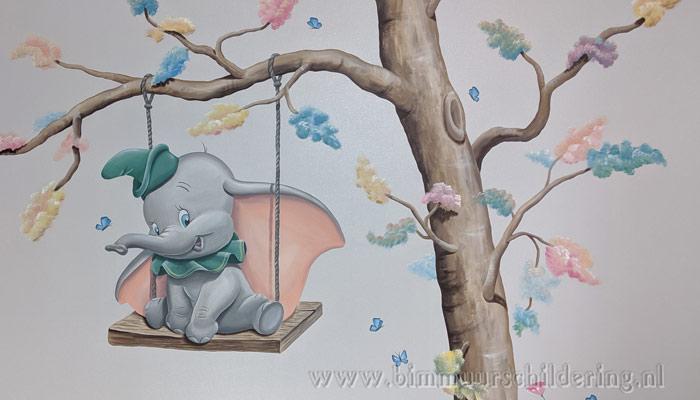 disney babykamer muurschildering dombo