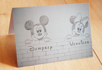 geboortekaartje Mickey Minnie Mouse