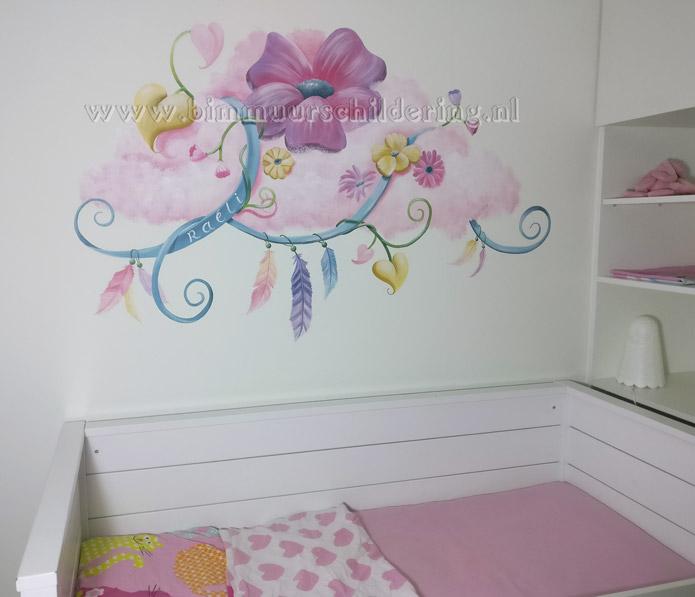 Lief Behang Meisjes.Wanddecoratie Kinderkamer Meisje