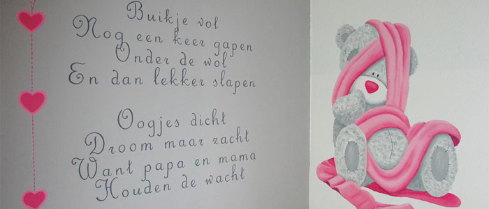Kinderkamer muurschildering mooie babykamer muurtekeningen - Muur kleur babykamer meisje ...