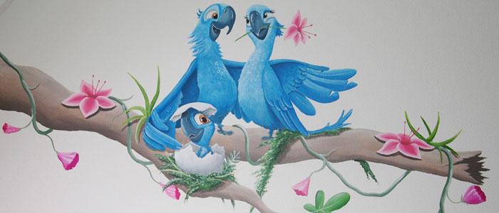 ... . Leuk voor op de kinderkamer schilderij uit serie beestenboel
