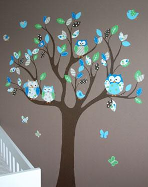 kinderkamer muurschilderingen,babykamer muurtekening: elk ontwerp, Deco ideeën