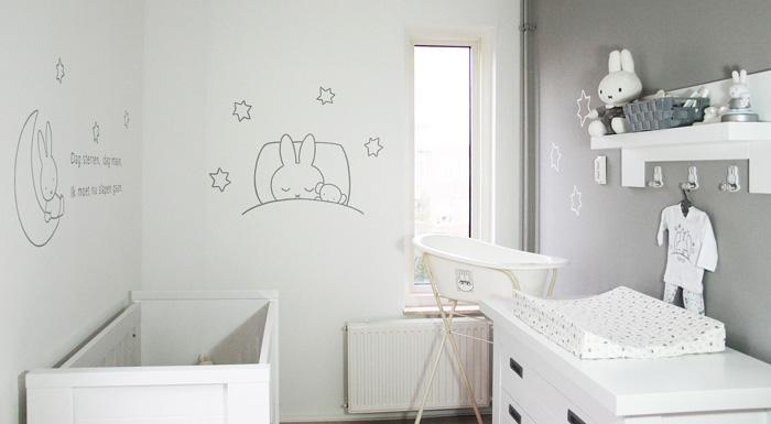 Hedendaags Nijntje babykamer - Nijntje wanddecoratie - babykamer gedichtje XV-11