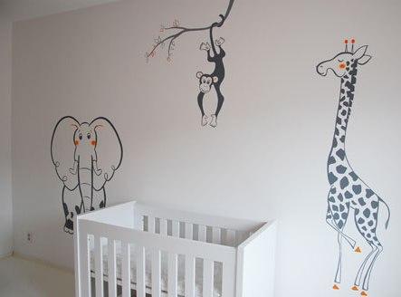 Muurschilderingen slaapkamer volwassenen - Grijs muurschildering ...