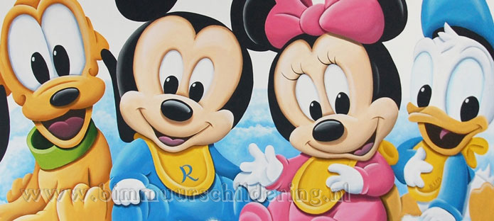 baby pluto mickey minnie donald