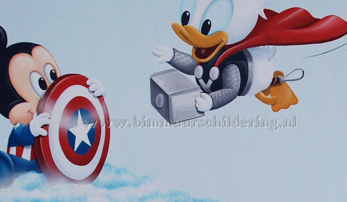 donald thor mickey captain america