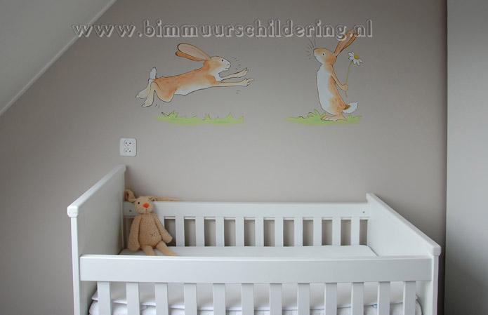 Babykamer roze muur kosten muurschildering saskia de wit prijzen kleine kamer slim inrichten - Roze kleine kamer ...