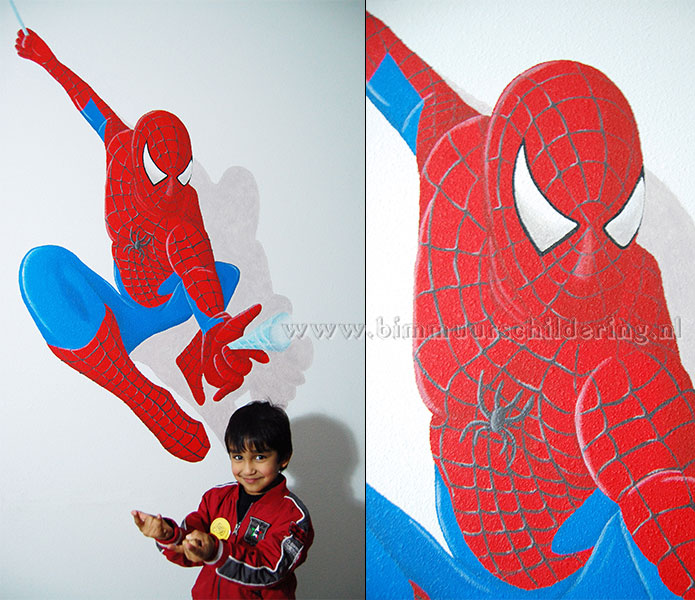 spiderman muurschildering