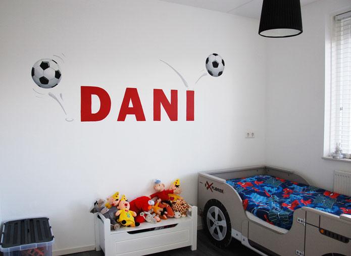 Voetbal kinderkamer muurschildering - Kamer van de jongen ...