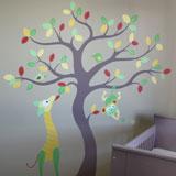 Babykamer boom muurschildering
