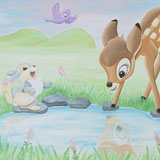 Disney's Bambi muurschildering