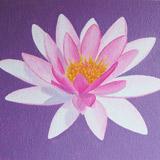 bloem muurschildering