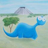 dinosaurus kinderkamer muurschildering