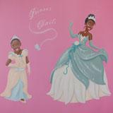 prinsessen muurschildering