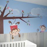 geboortekaartje muurschildering in babykamer