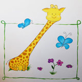 giraf vlinders bloemen