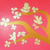 gouden boom goud muurschildering