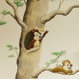 knabbel babbel babykamer muurschildering