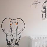 olifant safari dieren muurschildering