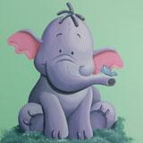 olifant muursticker