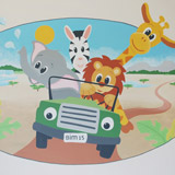 safari dieren auto