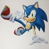 sonic kinderkamer muurschildering