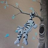 Teigetje Tijgertje muurschildering babykamer