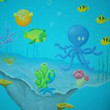 vissen en koraal vrolijk en kleurrijk