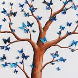 boom wanddecoratie 3d vlinders