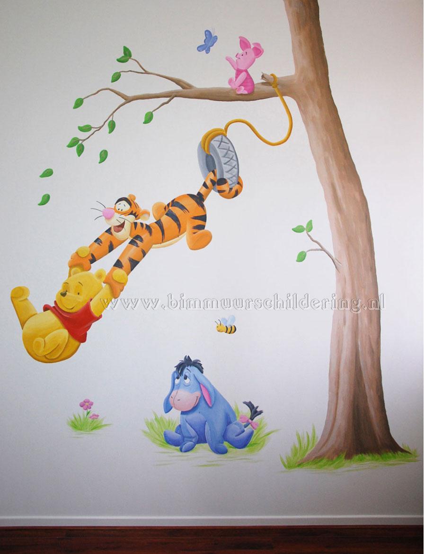 Hier ziet u de grote afbeelding van de kinderkamer muurschildering met ...