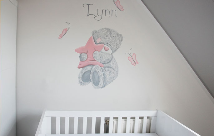 Muurstickers Babykamer Me To You.Me To You Muurschildering Wandschildering Babykamer Jongetje