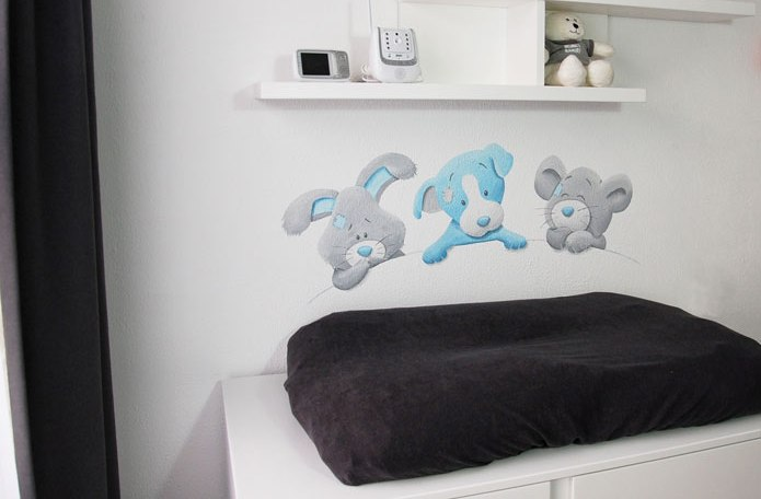 blue nose friends babykamer