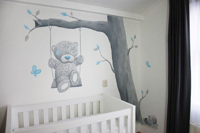 Muurstickers Babykamer Me To You.Blue Nose Friends Me To You Babykamer Muurschildering