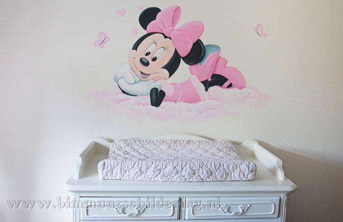 Minnie mouse meisjeskamer muurschildering - Afbeelding babykamer ...