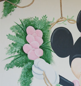 minnie mouse tak bloemen