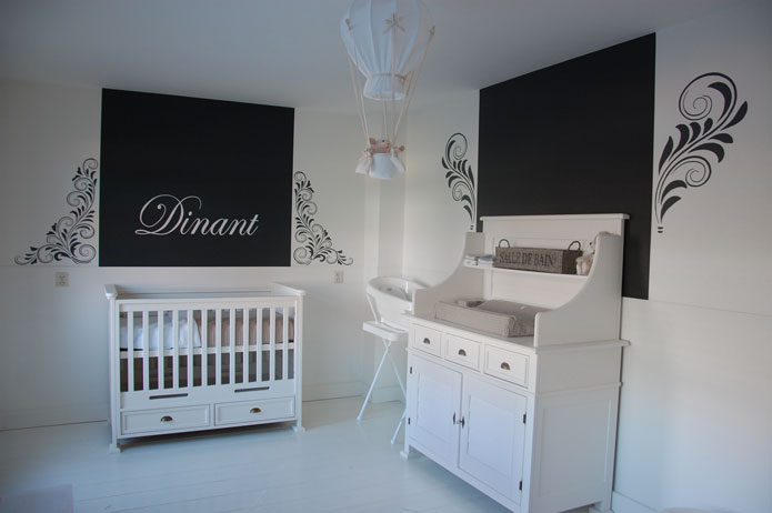 Barok versieringen muurschildering for Kinderkamer versiering