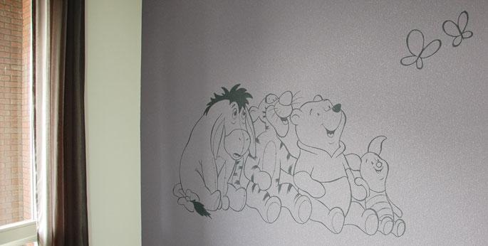 Winnie the Pooh muurtekeningen