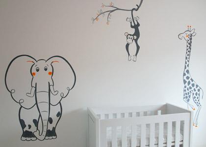 Muurtekening babykamer muurtekeningen kinderkamer