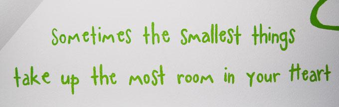 Muurteksten - in babykamer, kinderkamer en woonkamer