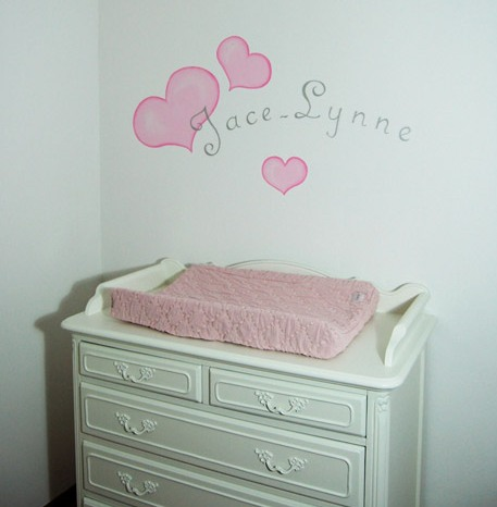 Muurschildering Met Naam In De Babykamer Pictures to pin on Pinterest