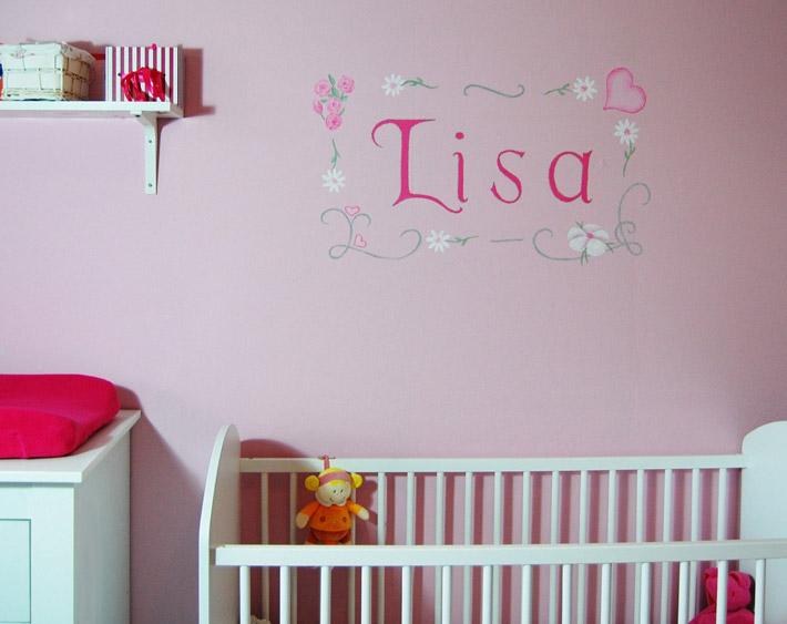naam op muur kinderkamer babykamer muurtekst, Deco ideeën
