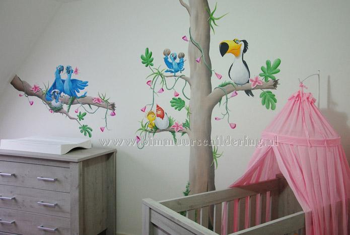 Rio kinderkamer muurschildering - Schilderij kamer ontwerp ...