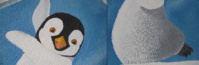 Behangen Over Structuurverf.Muurschildering Op Spachtelputz Structuurverf