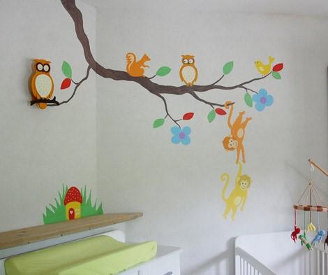 muurschildering babykamer uil ~ lactate for ., Deco ideeën