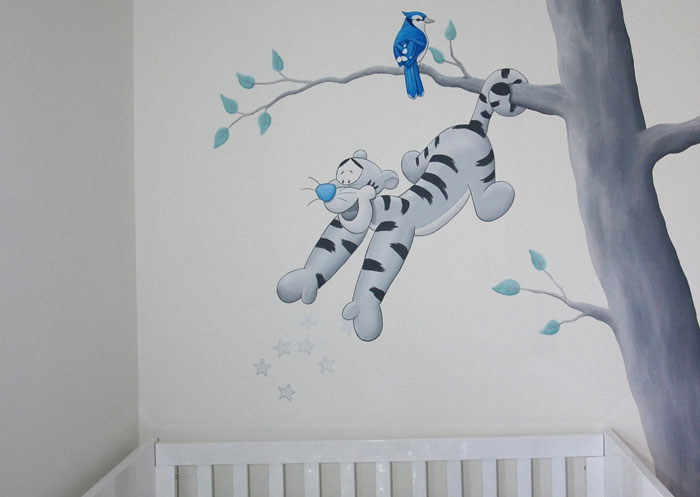 Babykamer Donkere Muur : ... muur ernaast. De donkere muur laat de ...
